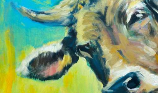 Kühe malen! Bunt und expressiv