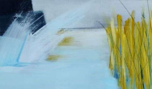 Abstrakte Landschaft – Spontane Malerei auf Papier