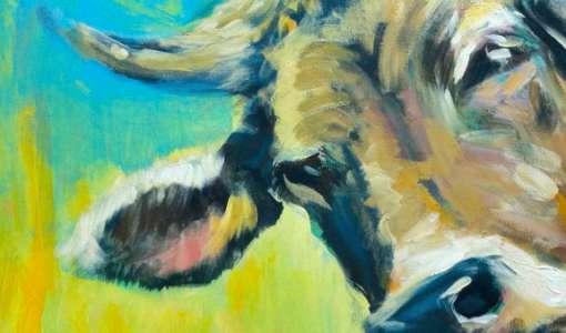 Kühe expressiv für Anfänger